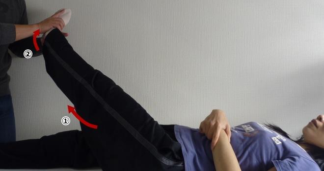 長短腓骨筋のパートナーストレッチ